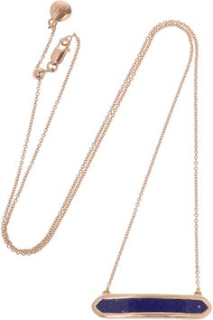 Monica Vinader Baja rose gold-plated lapis lazuli necklace NET-A-PORTER.COM