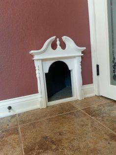 Great cat door to basement litter box.