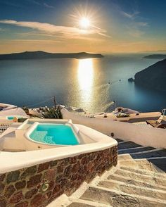 This amazing shot is from Santorini