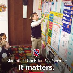 Kindergarten. It's where the very basic classroom and social skills are taught, learned, and practiced with the goal of future successes in mind. While Bloomfield Christian School is known for our rigorous classical academic standards, our most important task is educating young kingdom citizens who can reason, articulate, and contend for the Gospel.