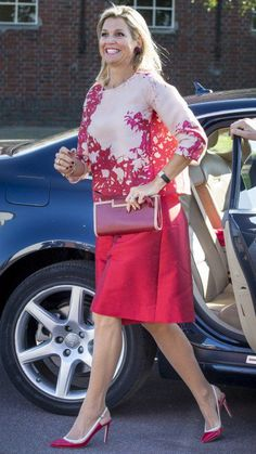 Queen Máxima repeated her Natan outfit from June this year. 09-09-2015