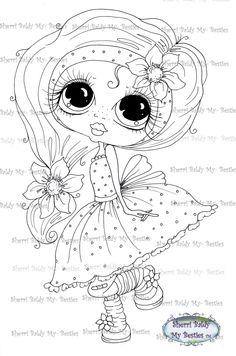 INSTANT DOWNLOAD Digital Digi Stamps Big Eye Big Head Dolls Digi Scan0001 2 Little QT Besties By Sherri Baldy by SherriBaldy on Etsy https://www.etsy.com/listing/209681211/instant-download-digital-digi-stamps-big