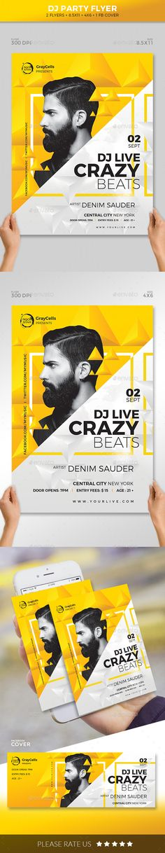 DJ #Party #Flyer - #Clubs & Parties Events