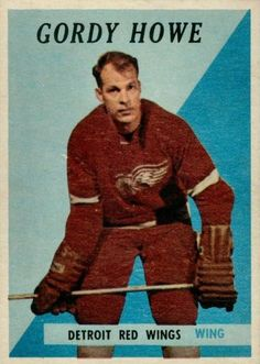 Topps Gordie Howe - It's Small But It's an Error - Vintage Hockey Cards Report Stars Hockey, Ice Hockey, Montreal Canadiens, Detroit Hockey, Wings Card, Hockey Hall Of Fame, Red Wings Hockey, Hockey Games, Sports Figures