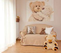 Detská izba - kolekcia Romantica    #detskaizba#romatica#hneda#medvedik#medved Toddler Bed, Fabric, Room, Baby, Furniture, Collection, Home Decor, Child Bed, Tejido