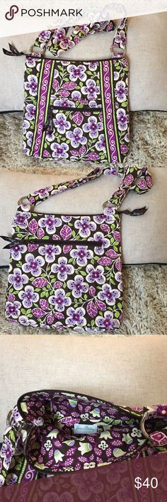 Like 🆕 Vera Bradley Crossbody + Measures 10 x 10.5  + Vera Bradley silver hardware + Front and back zipper pocket  + Adjustable strap + Dont forget to bundle 🛍  ⭐️All items are steamed cleaned and shipped within 48 hours of your purchase. ⭐️If you would like any additional photos or have any questions please let me know. ⭐️Sorry, no trades. But will listen to ALL fair offers. Thanks for shopping! Vera Bradley Bags