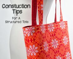 Sewplicity: Construction Tips for Making a Structured Tote
