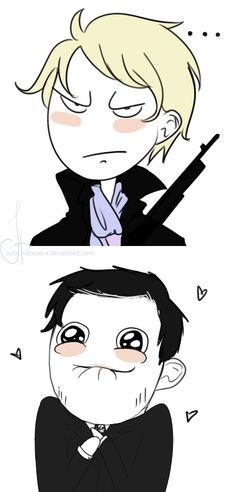 More MorMor by Julia-Kisteneva.deviantart.com on @DeviantArt Sebastian trying to intimidate enemies whilst Jim coos and acts like a child :3