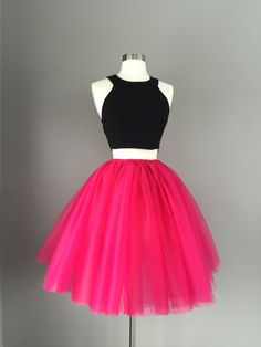 Tulle skirt adult tutu pink tutu fuchsia by Morningstardesignsmi