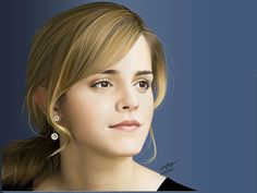 Emma Watson by Helleno Souza, via Behance