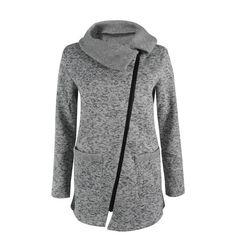 Plus Size 5XL Women Autumn Winter Clothes Warm Fleece Jacket Slant Zipper Collared Coat Lady Clothing Female Jacket NQ901380 #hengsong #basic-jackets #women_clothing #stylish_basic-jackets #style #fashion