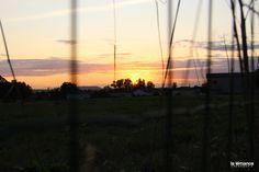 Coucher de soleil sur le Fumélois. Beau.