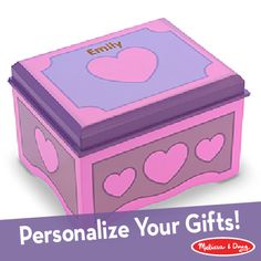 Decorate-your-own Jewelry Box: now available with personalization