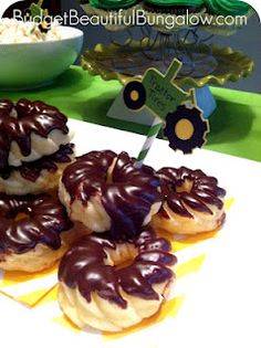 Tractor Tires birthday party treat
