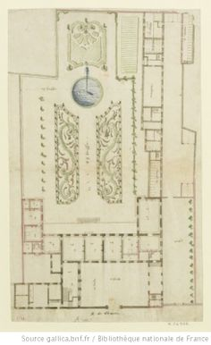 [Paris, hôtel de Guise-Soubise : variante pour le premier projet] : [dessin] / [Jules Hardouin-Mansart] - 1 Jules Hardouin Mansart, Sims 4 Houses, Marquise, French Chateau, Architecture Plan, Belle Epoque, House Plans, Arts And Crafts, Floor Plans