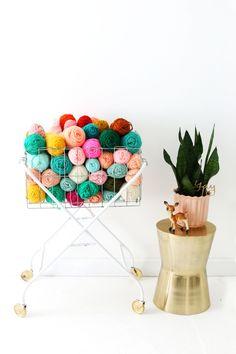 DIY yarn cart