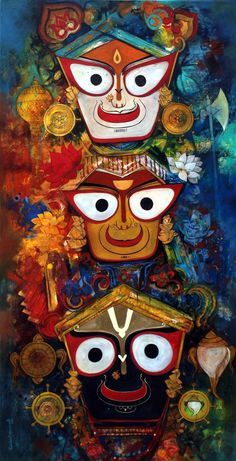 Jagannath Images are very popluar item among the Jagannath Believer. Here we put in 51 best Images of Lord Jagannath from all over the internet. Hare Krishna, Krishna Art, Lord Shiva Painting, Ganesha Painting, Buddha Painting, Lord Jagannath, Jagannath Temple Puri, Rath Yatra, Spiritual Paintings