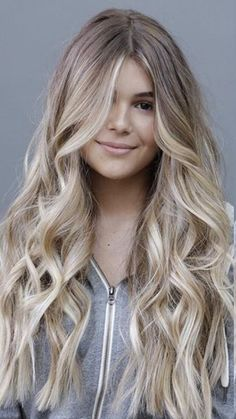 50 Long Blonde Hair Color Ideas in Many of us wondered that at some point we would look like athlete blonde tresses. Don& worry here we have prepared a list of yellow color ideas to he…, Long Blonde Hair Color - Medium Blonde Hair, Honey Blonde Hair, Balayage Hair Blonde, Blonde Highlights, Blonde Color, Long Layered Hair, Long Curly Hair, Curly Hair Styles, Curly Short
