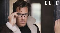 ELLE MAGAZINE [UK] (December ~ Still photo from behind-the-scenes video of Benedict Cumberbatch photo shoot. Benedict Cumberbatch Movies, Sherlock Cumberbatch, Sherlock Holmes, Benedict And Martin, Elle Magazine, Johnlock, Martin Freeman, Humor, Boys Who