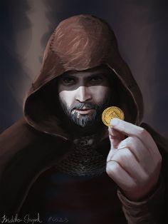 Take the Coin - Fantasy Character Portrait by Reverist.deviantart.com on @DeviantArt