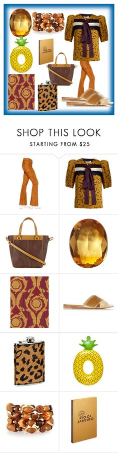 """""""set for alert"""" by denisee-denisee ❤ liked on Polyvore featuring Drome, Roksanda, Etro, Loquet, Versace, Gianvito Rossi, Neiman Marcus, Emily & Ashley, Louis Vuitton and vintage"""