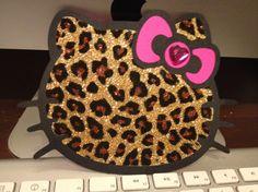 25 Hello Kitty Hot Pink and LEOPARD Birthday Invitations - 25 INVITATIONS - Girls Birthday, Little Girls Birthday, Birthday. $95.00, via Etsy.