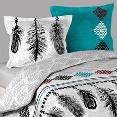 housse de couette ethnique inca 2 taies d oreillers. Black Bedroom Furniture Sets. Home Design Ideas