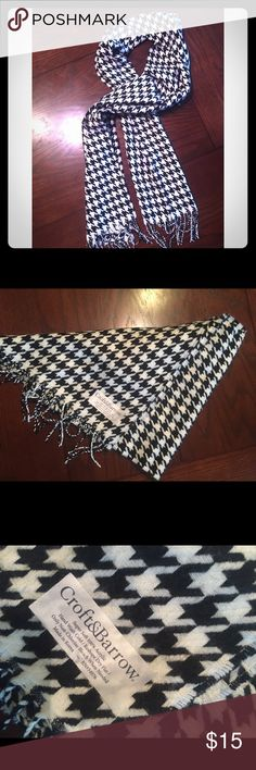 Croft&Barrow super soft scarf 100% acrylic, super soft black & white scarf. New without tags, has never been worn. croft & barrow Accessories Scarves & Wraps
