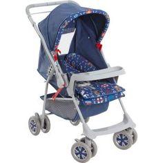 Carrinho de Bebê Galzerano Milano Reversível Nautico, pratico, seguro e confortável.