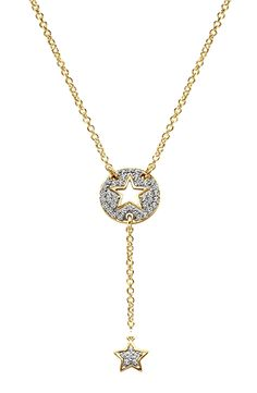 Gabriel & Co.-Voted #1 Most Preferred Fine Jewelry and Bridal Brand. This necklace is making us starry-eyed! A 14k Yellow Gold Star Necklace.