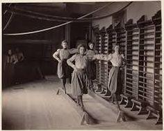 Vintage gymnastics on low beams