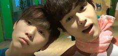 Seungkwan and Doyoon of Seventeen