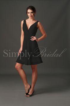 5c9b7e32b47f V-Neck Sleeveless Chiffon Dress  LOVE this dress. Simple and under  100