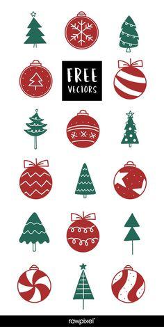 42 Trendy Ideas For Christmas Tree Vector Illustration Design Christmas Themes, Christmas Tree Decorations, Christmas Tree Ornaments, Christmas Cards, Christmas Doodles, Christmas 2019, Christmas Tree Background, Ribbon On Christmas Tree, Tree Illustration