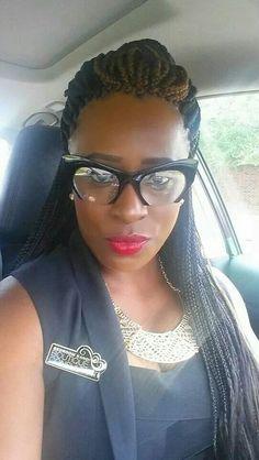 Braided Hairstyles For Black Women Cornrows, Black Women Hairstyles, Protective Hairstyles, Hair Dos, Box Braids, Twists, Eyewear, Nice, Hair Styles