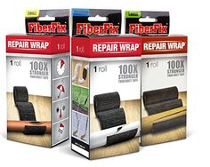 "FIBER FIX - Super Adhesive Tape - 3 Rolls: 1"", 2"" & 4"" - 100x Strength of Duct Tape: Fix & Repair: Automotive, Plumbing, Pipe & Hose, Emergency, DIY"