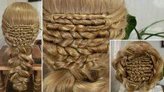 """Плетение из волос - """"Пшеница"""""""