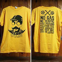 Image of Yellow Single Speed Joe Save the World T - cool hizoku cycles Motorcycle Bike, Cycling, Yellow, Bicycles, Sweatshirts, World, Gadgets, Guy, T Shirt