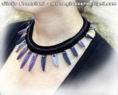 Girocollo Steel Short Necklace (Kaos Inside) Tags: crochet necklaces collane uncinetto cotone cottonyarn girocolli