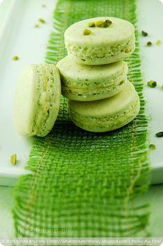 Pistachio and Lemon Cream Macarons