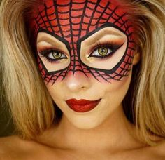 Spider girl Halloween makeup                              …