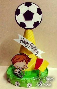 Tutorial: Top para pastel http://scrapyamita.blogspot.mx/2014/03/futbol.html