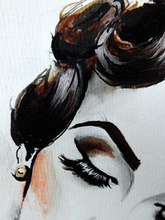 Idda van Munster (Aida Đapo) Retro | Vintage Model | The Bosnian vintage girl/model/blogger/make-up and hair artist.   Pin- Up Art of Therese Rosier   Watercolors | Ink | Acrylic