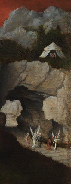 PATINIR, Joachim Netherlandish Northern Renaissance (ca.1485-1524)_Landscape with the Destruction of Sodom and Gomorrah circa 1520 detail