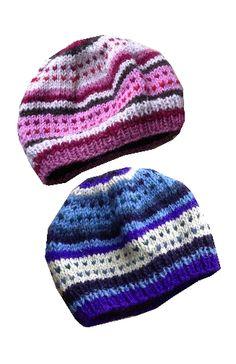 Kids Knit Striped Hat