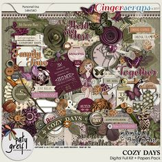 Cozy Days Digital Full Kit by Paty Greif