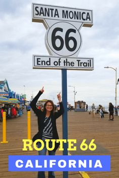 The best Route 66 road trip stops in California. It is the end of the mile Mother Road at the Santa Monica pier. Route 66 Road Trip, Travel Route, Travel Usa, Travel Tips, Road Trips, Travel Destinations, Usa Roadtrip, Travel Oklahoma, Santa Monica