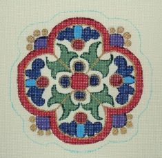 """DC-65  Imperial Ornament #18 Mesh, 4 1/2"""" x 4 1/2"""" Adapted from antique Russian jewelry design"""