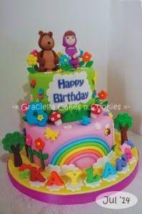 Graciella Cakes Birthday - Manye Cake - Wedding Cupcake & Cake - Bandung Online CakeShop: Masha and the Bear for Kaylana