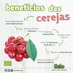Brio Supermercados Biológicos - Beneficios das Cerejas biológicas